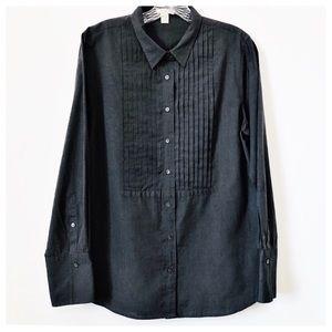 J. CREW Button Down Tuxedo Split Cuff Shirt Sz 10